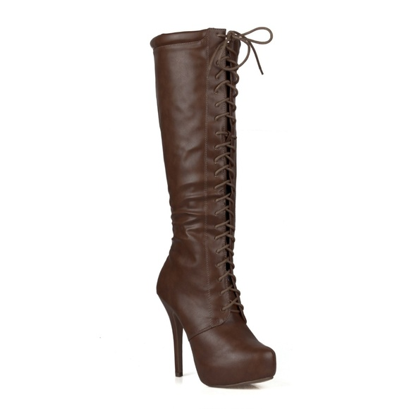 bbad273b9b6 Amber-04 Lace Up Women s Knee High Boots